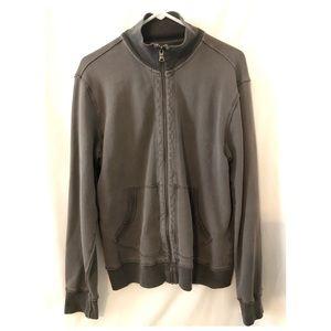 Express men's zip up sweatshirt gray